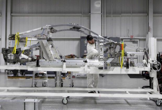 FILE PHOTO - Honda Motor Co's Acura NSX luxury sports car is seen in assemble line at the company's Performance Manufacturing Center in Marysville, Ohio, U.S., November 11, 2016. REUTERS/Maki Shiraki/File Photo