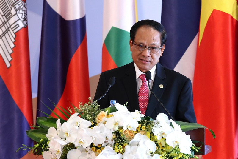 Le Luong Minh, Secretary General of the Association of Southeast Asian Nations (ASEAN) delivers a speech during the opening ceremony of the 8th Cambodia-Laos-Myanmar-Vietnam Summit (CLMV-8) and the 7th Ayeyawady-Chao Phraya-Mekong Economic Cooperation Strategy Summit (ACMECS-7), in Hanoi, Vietnam 26 October 2016. REUTERS/Luong Thai Linh/Pool