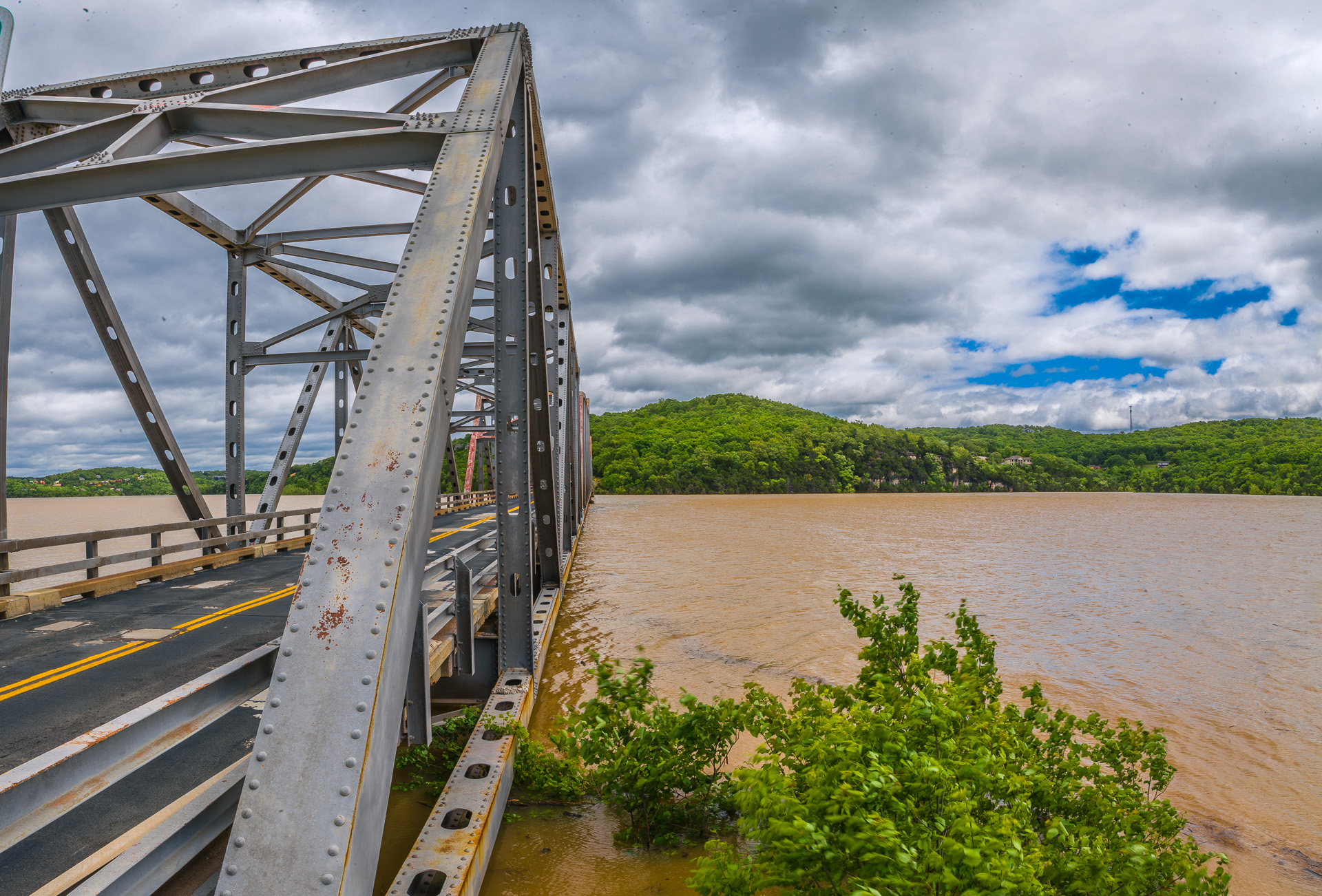 Water overtaking a Bridge located on Table Rock lake Picture by Austin Metcalf