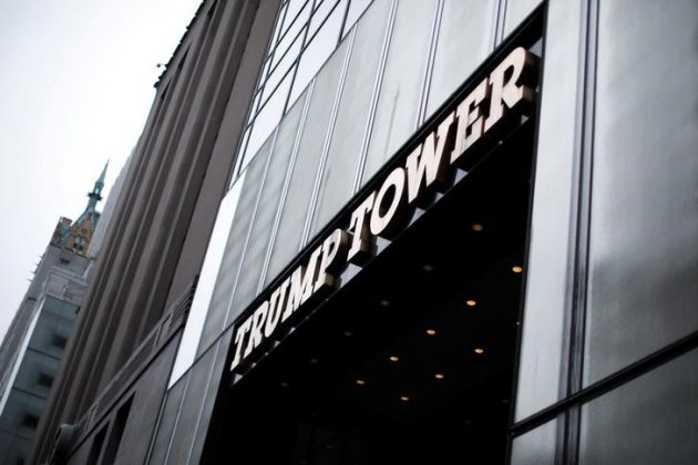 The West facing entrance to Trump Tower on 5th Avenue in New York City, U.S., is seen April 26, 2017. Picture Taken April 26, 2017. REUTERS/Mike Segar