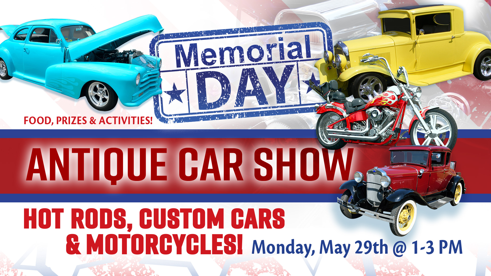 Memorial Day Antique Car Show - May 29, 2017