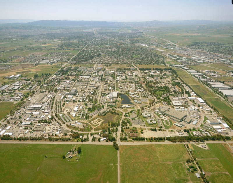 An aerial photo shows Lawrence Livermore National Laboratory in Livermore, California, U.S. on July 5, 2011. Courtesy National Nuclear Security Administration/Handout via REUTERS