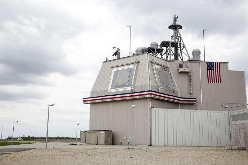 The deckhouse of the Aegis Ashore Missile Defense System (AAMDS) at Deveselu air base, Romania, May 12, 2016. Inquam Photos/Adel Al-Haddad/via REUTERS