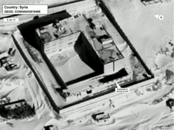 A satellite view of part of the Sednaya prison complex near Damascus, Syria. Department of State/via REUTERS