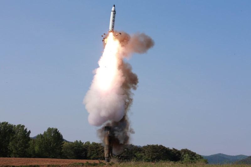 The scene of the intermediate-range ballistic missile