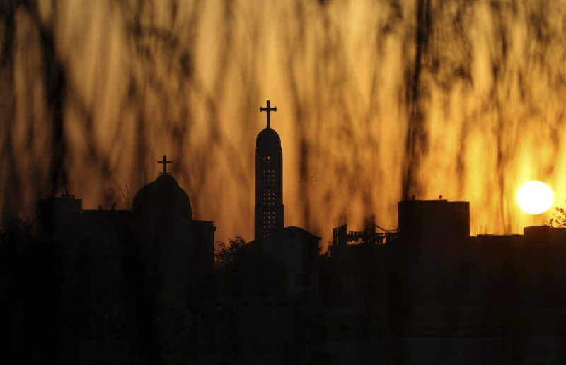 The Coptic Orthodox Virgin Mary church is seen during sunset ahead of Coptic Orthodox Easter in Cairo April 18, 2009. REUTERS/Tarek Mostafa