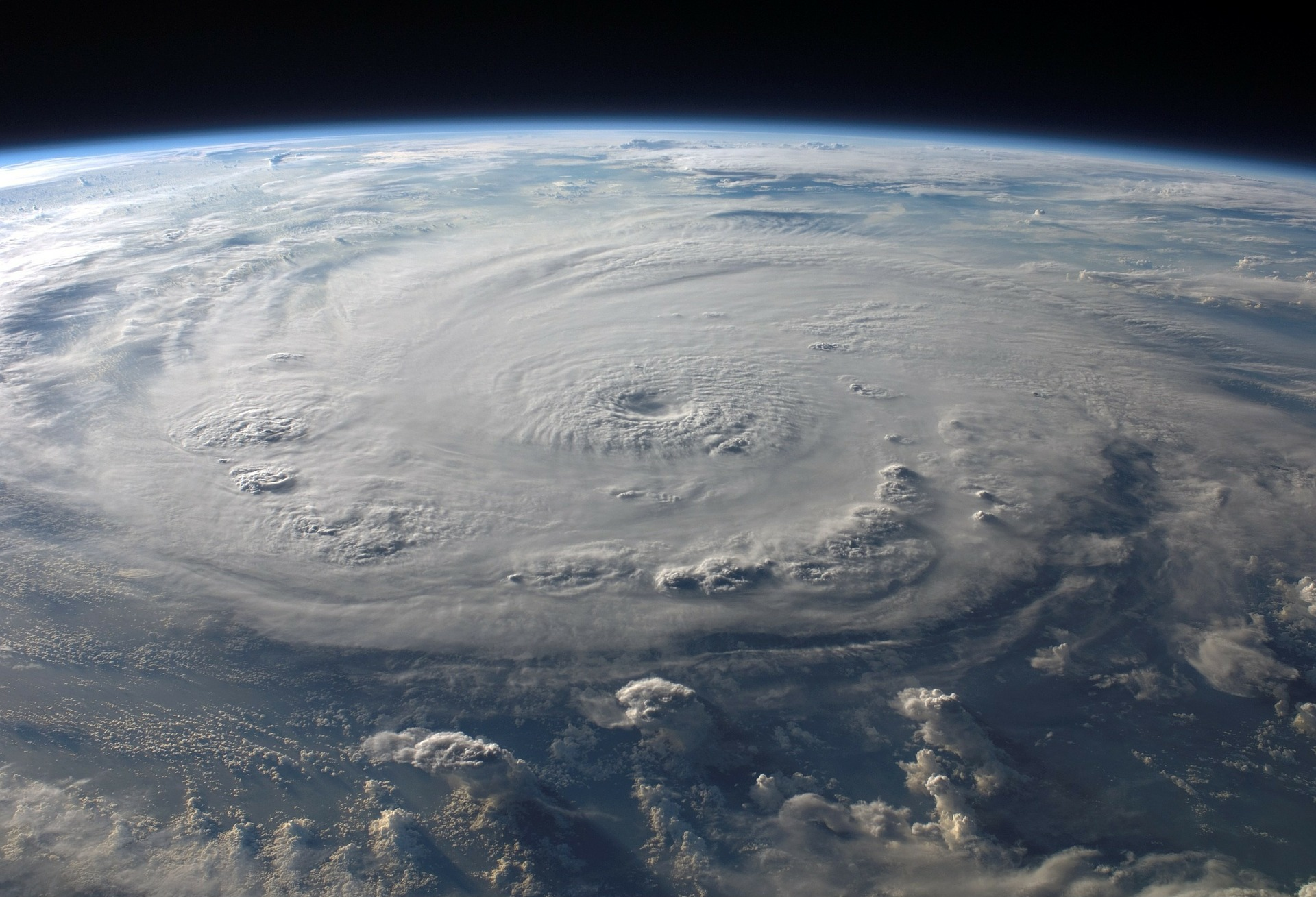 A hurricane seen from space. Courtesy of Pixabay