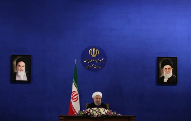 FILE PHOTO: Iranian president assan Rouhani attends a news conference in Tehran, Iran, May 22, 2017. TIMA via REUTERS