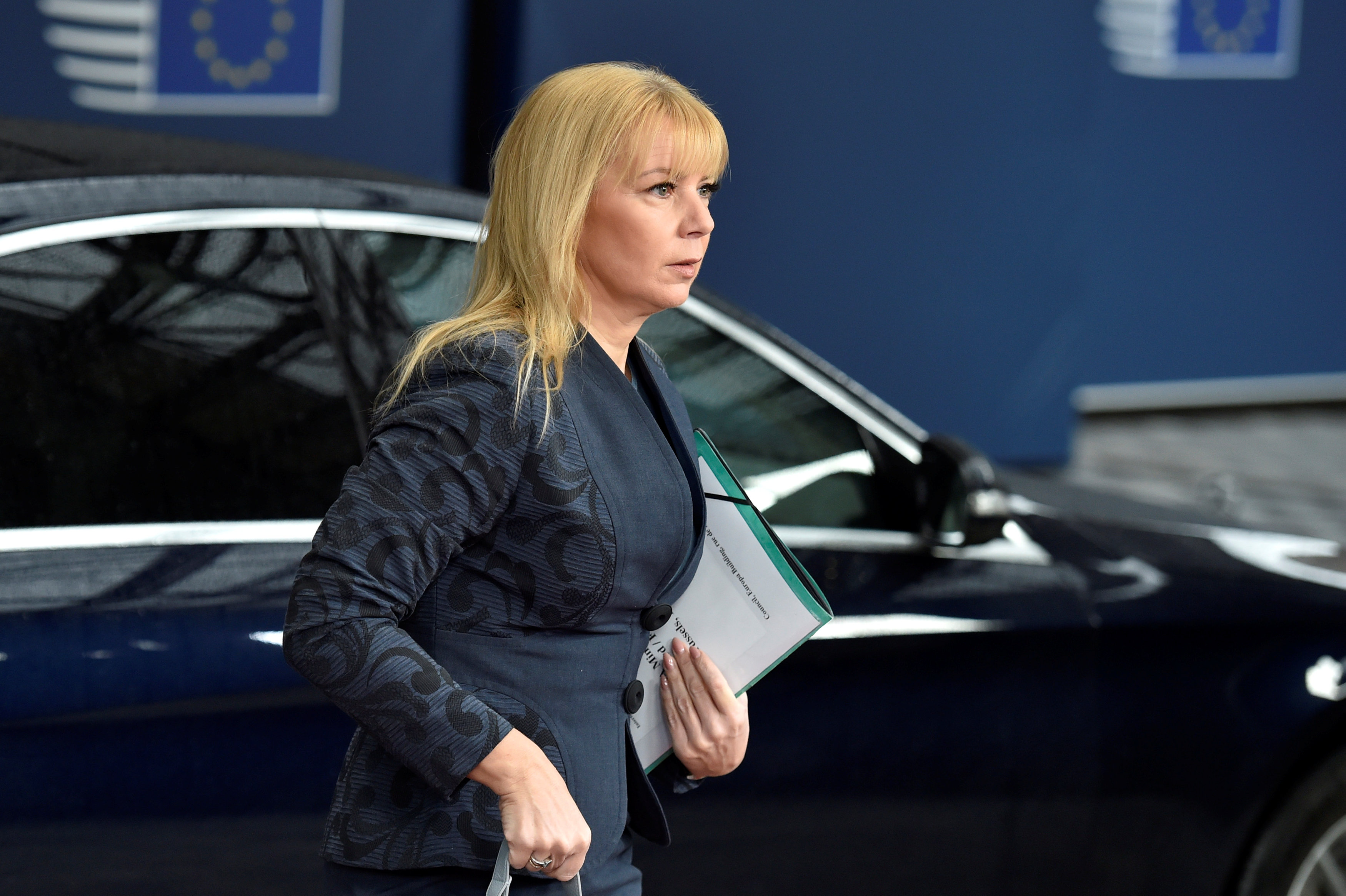 European Commissioner Elzbieta Bienkowska arrives to a meeting of European Union defence ministers at the EU Council in Brussels, Belgium May 18, 2017. REUTERS/Eric Vidal