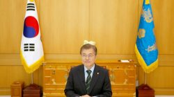 South Korean President Moon Jae-in attends an interview with Reuters at the Presidential Blue House in Seoul, South Korea, June 22, 2017. REUTERS/Kim Hong-Ji