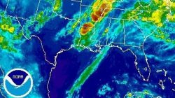 Radar from the continued threat of Tropical Storm Cindy