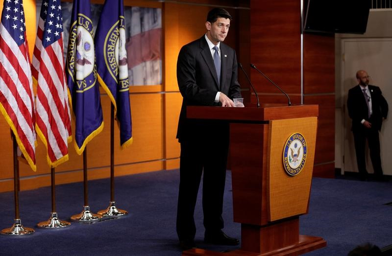 Speaker of the House Paul Ryan (R-WI) speaks after Senate Republicans unveiled their version of legislation that would replace Obamacare on Capitol Hill in Washington, U.S.