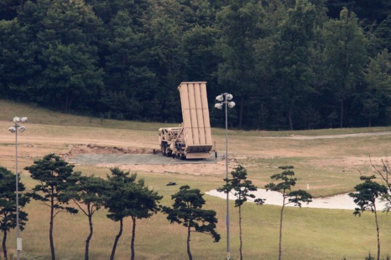 A Terminal High Altitude Area Defense (THAAD) interceptor is seen in Seongju, South Korea, June 13, 2017. Picture taken on June 13, 2017. REUTERS/Kim Hong-Ji