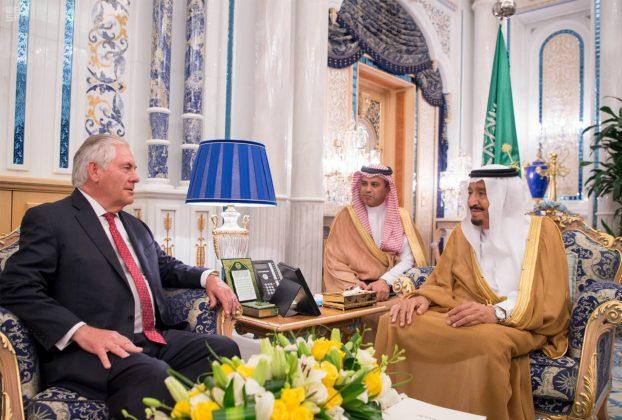 Saudi Arabia's King Salman bin Abdulaziz Al Saud meets with U.S. Secretary of State Rex Tillerson in Jeddah, Saudi Arabia.