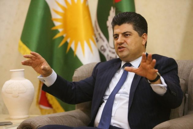 A top Kurdish counter-terrorism official Lahur Talabany speaks during an interview with Reuters in Sulaimania, Iraq