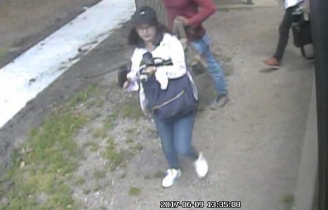 Chinese student Yingying Zhang is seen in a still image from security camera video taken outside an MTD Teal line bus in Urbana, Illinois, U.S. June 9, 2017. University of Illinois Police/Handout via REUTERS