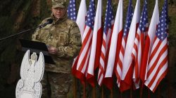 U.S Army Europe Commanding General Ben Hodges speaks during the inauguration ceremony of bilateral military training between U.S. and Polish troops in Zagan, Poland, January 30, 2017. REUTERS/Kacper Pempel