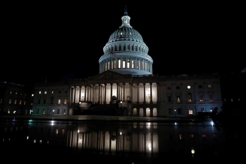 The United States Capitol is seen prior to an all night round of health care votes on Capitol Hill in Washington, U.S., July 27, 2017. REUTERS/Aaron P. Bernstein