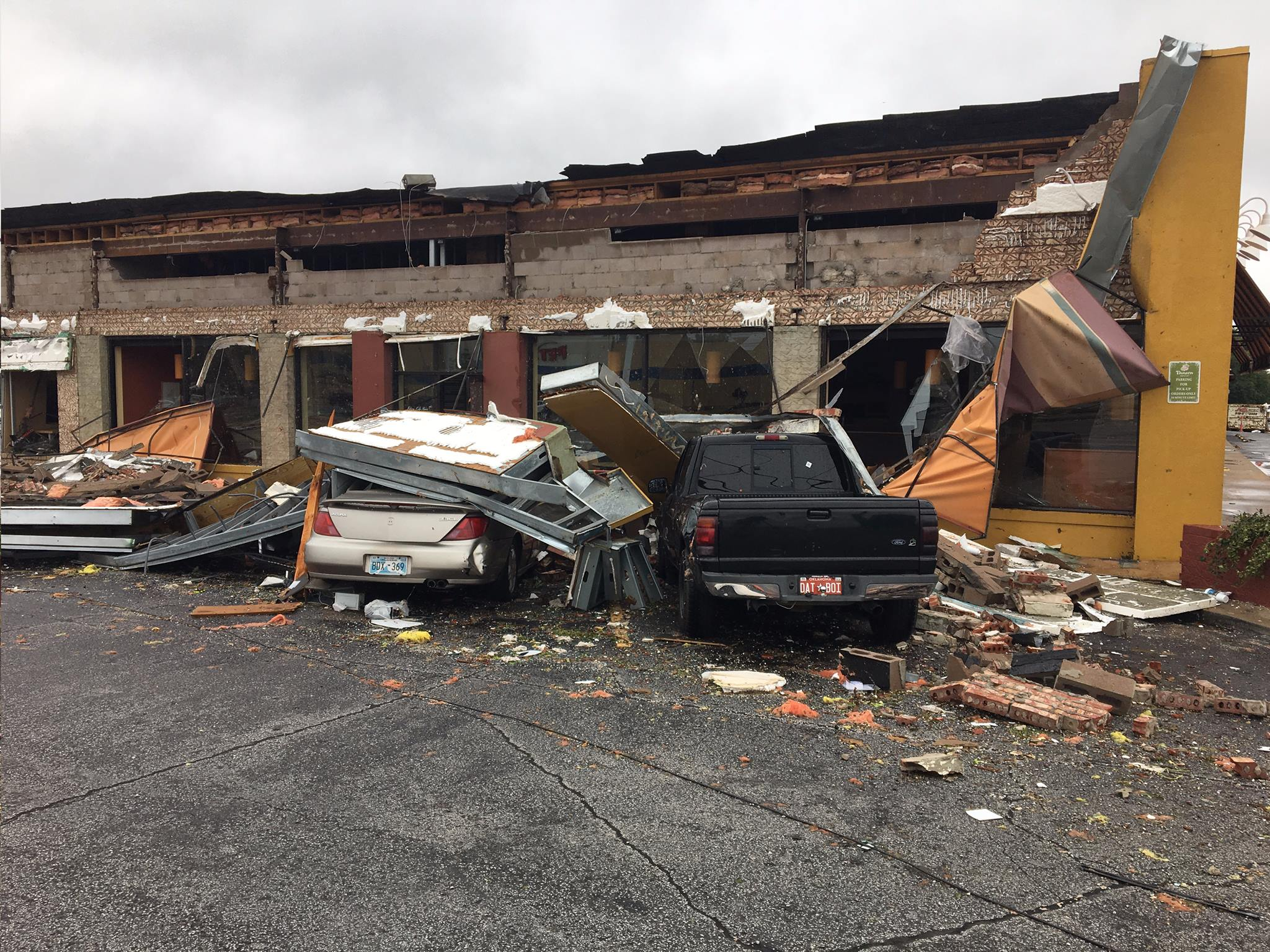 Tornado damage from overnight storm in Tulsa 8-7-17