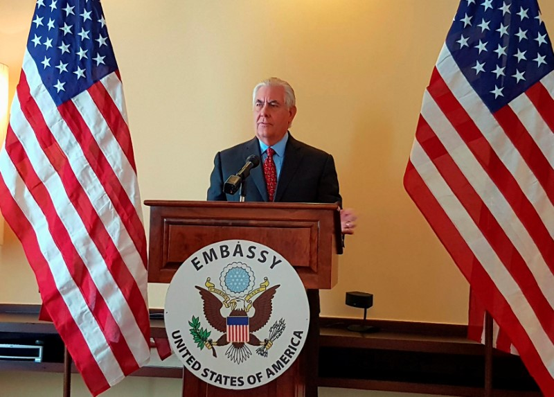 U.S. Secretary of State Rex Tillerson answers questions during a news conference in Manila, Philippines August 7, 2017.