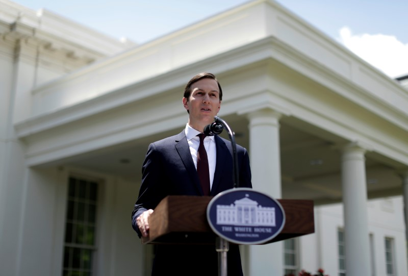 Senior Adviser to the President Jared Kushner speaks outside the West Wing of the White House in Washington, U.S., July 24, 2017. REUTERS/Joshua Roberts