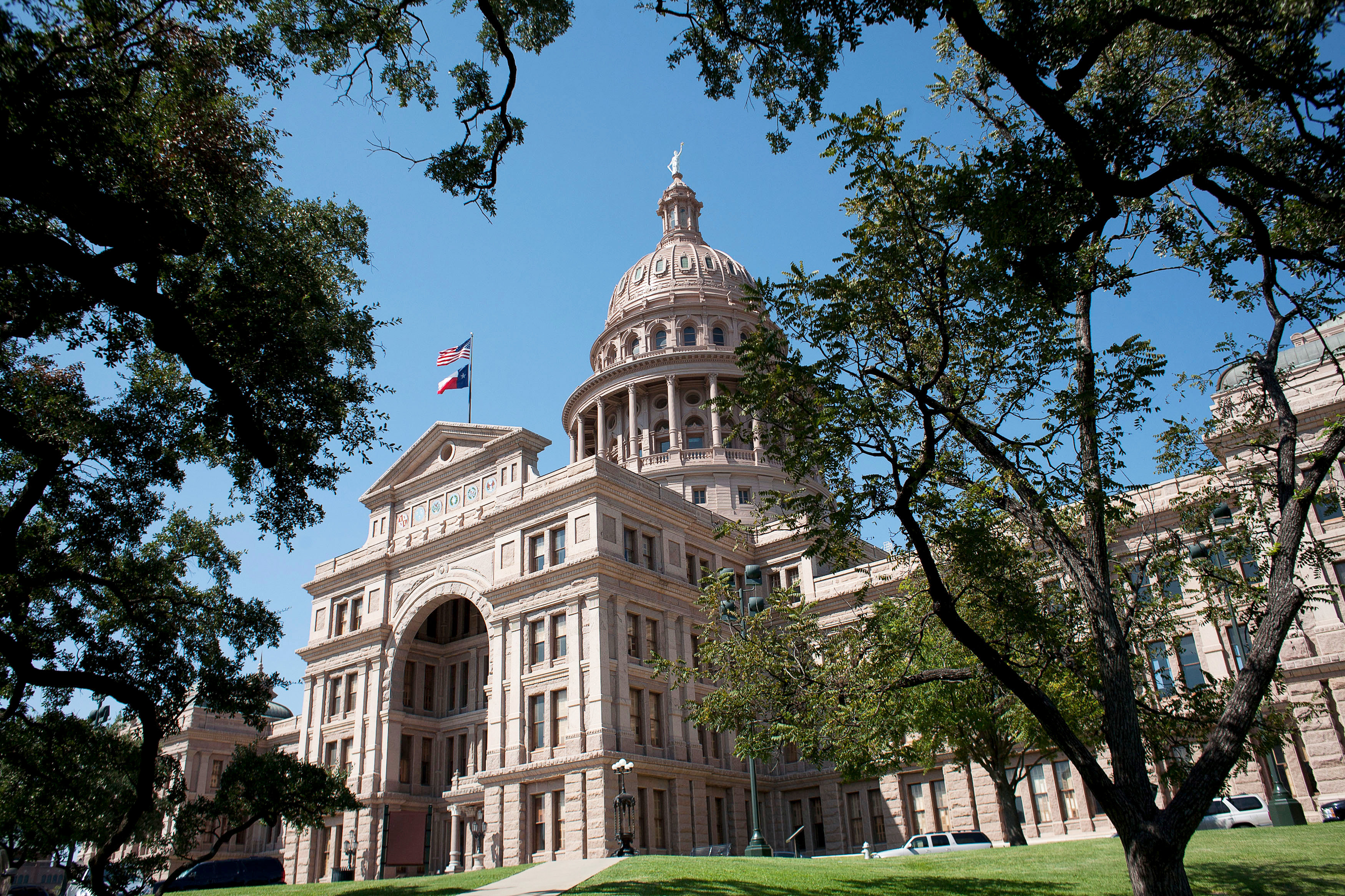 FILE PHOTO: The Texas capitol building, crafted from pink granite, is seen in Austin, Texas September 19, 2012. REUTERS/Julia Robinson/File Photo
