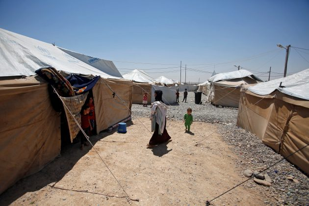 Displaced Iraqis from Talafar are seen in Salamya camp, east of Mosul, Iraq August 6, 2017. Picture taken August 6, 2017. REUTERS/Khalid Al-Mousily