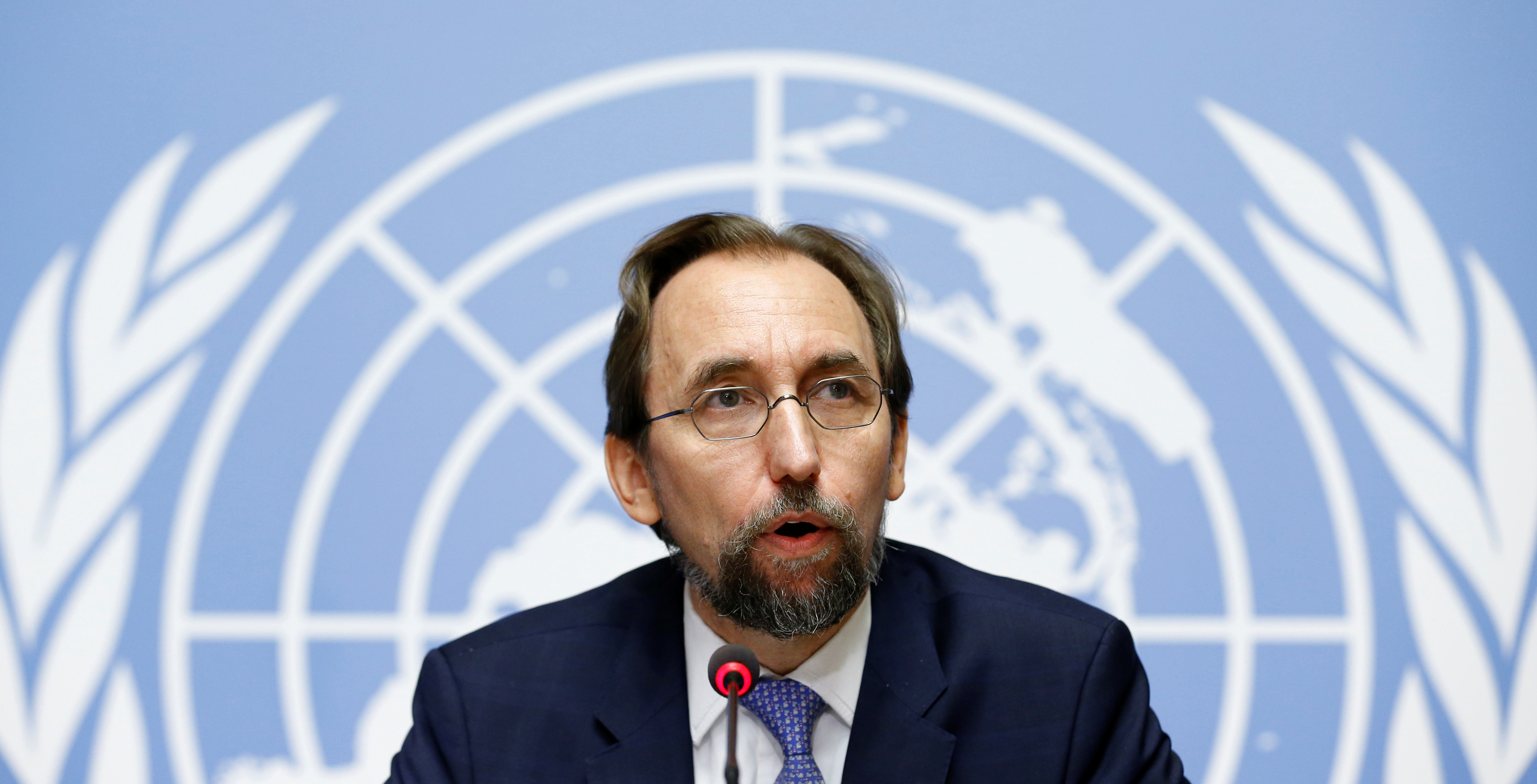 Zeid Ra'ad Al Hussein, U.N. High Commissioner for Human Rights attends a news conference on Venezuela at the United Nations Office in Geneva, Switzerland August 30, 2017. REUTERS/Denis Balibouse