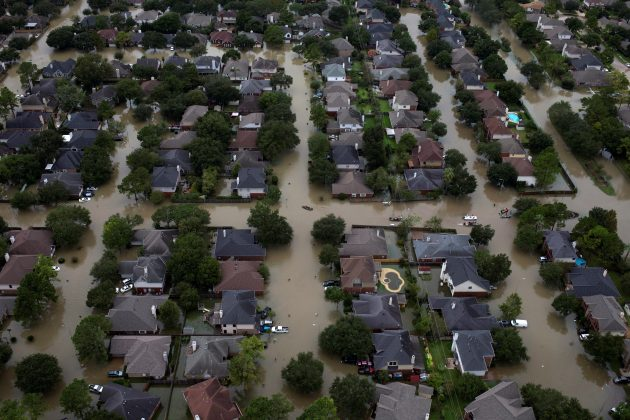 Search for survivors in Texas as storm Harvey heads north