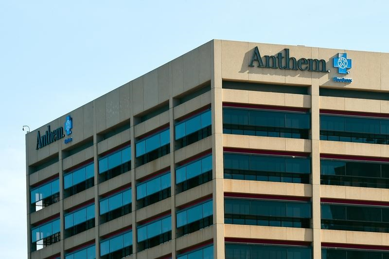 FILE PHOTO: The office building of health insurer Anthem in seen in Los Angeles, California February 5, 2015. REUTERS/Gus Ruelas