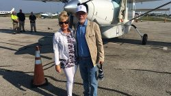 Jim and Lori Bakker ready to leave for the Houston area to bring food, comfort and prayer to those needing our help September 4, 2017