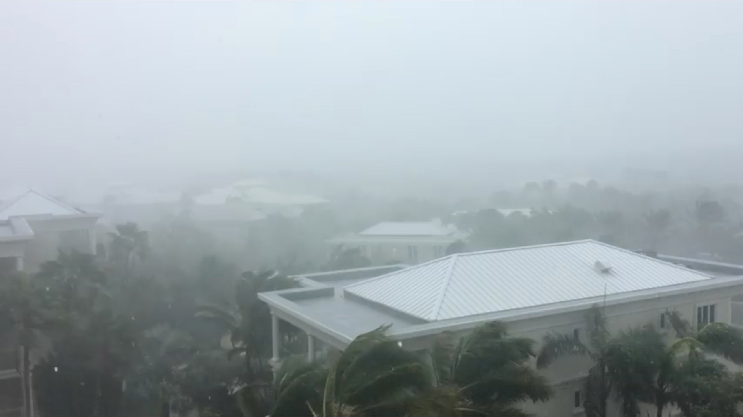 A storm batters as Hurricane Irma descends on Providenciales, in the Turks and Caicos Islands, in this still image taken from September 7, 2017 social media video. MANDATORY CREDIT Aneesa Khan/via REUTERS