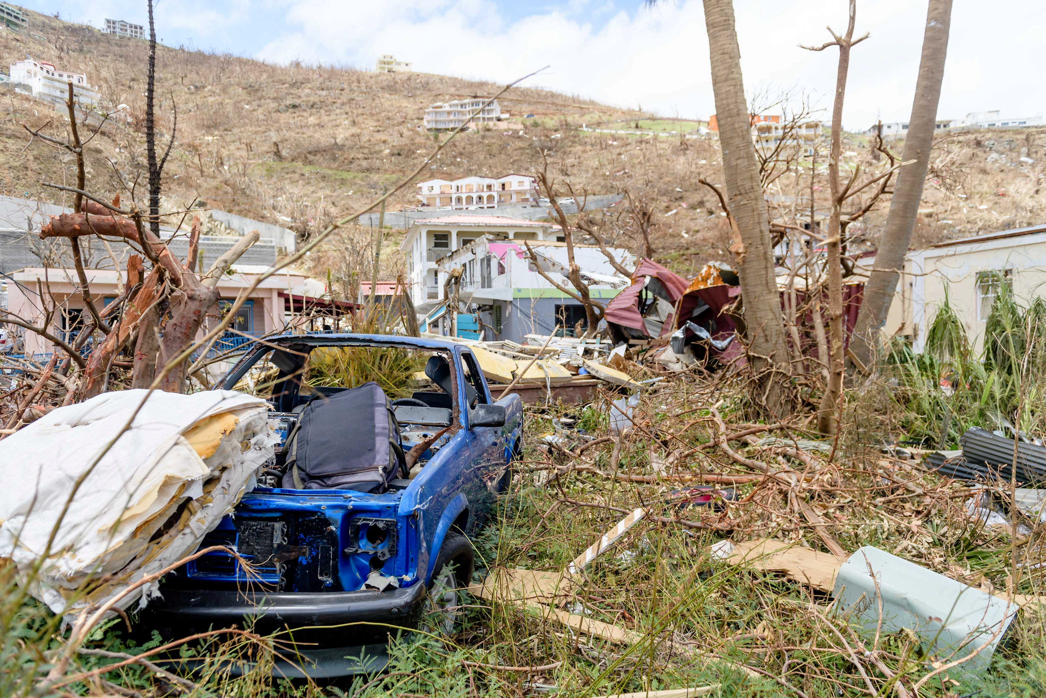 Buildings damaged by hurricane Irma are seen on the British Virgin Islands, September 1