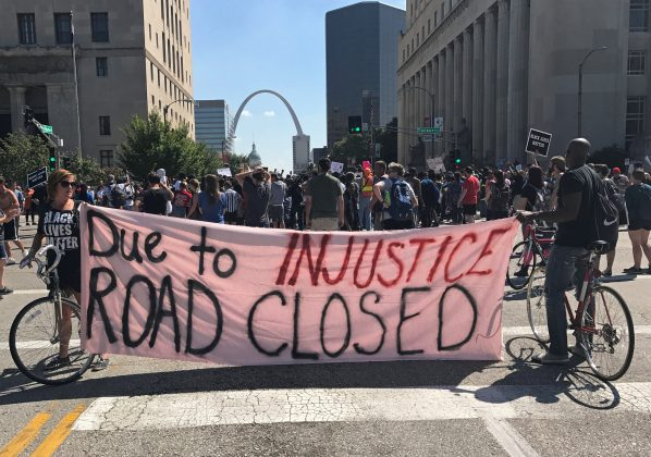 Police, protesters clash in St. Louis after ex-cop acquitted of murdering black man