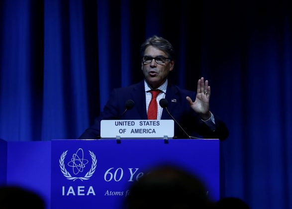 U.S. Energy Secretary Rick Perry attends the opening of the International Atomic Energy Agency (IAEA) General Conference at their headquarters in Vienna, Austria September 18, 2017.