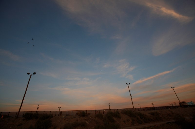 A view of a section of the U.S.-Mexico border fence at El Paso, U.S. opposite the Mexican border city of Ciudad Juarez, Mexico February 2, 2017. REUTERS/Jose Luis Gonzalez