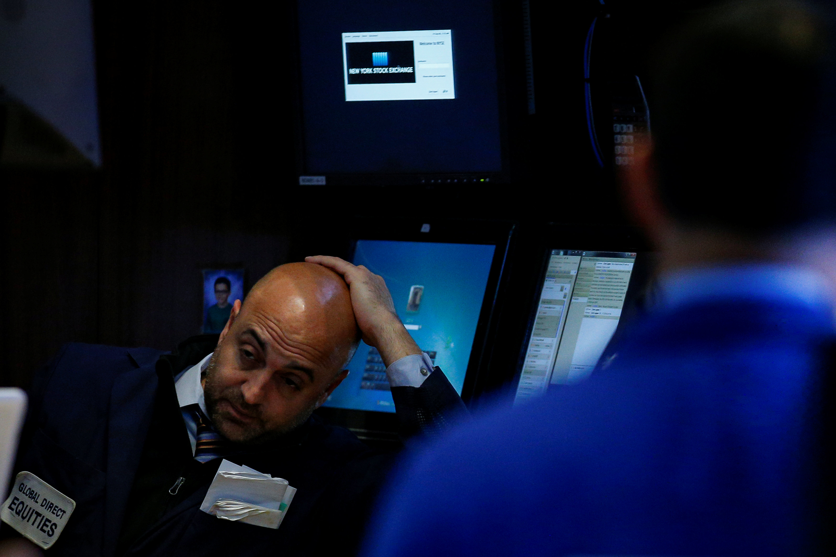 Traders work on the floor of the New York Stock Exchange (NYSE) in New York, U.S., September 8, 2017.