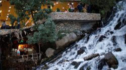 Iraqi people visit Bekhal Waterfall in Erbil, Iraq September 21, 2017.