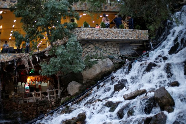Iraqi people visit Bekhal Waterfall in Erbil, Iraq September 21, 2017.