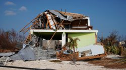 A destroyed house is pictuerd following Hurricane Irma in Ramrod Key, Florida, U.S., September 20, 2017. REUTERS/Carlo Allegri
