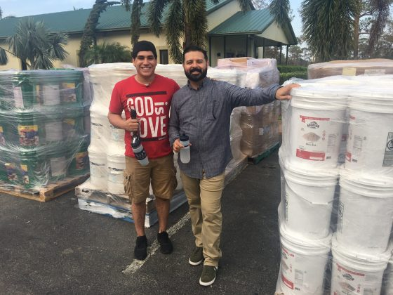 Mondo and Ricky in Immokalee, Florida on Disaster Relief visit.