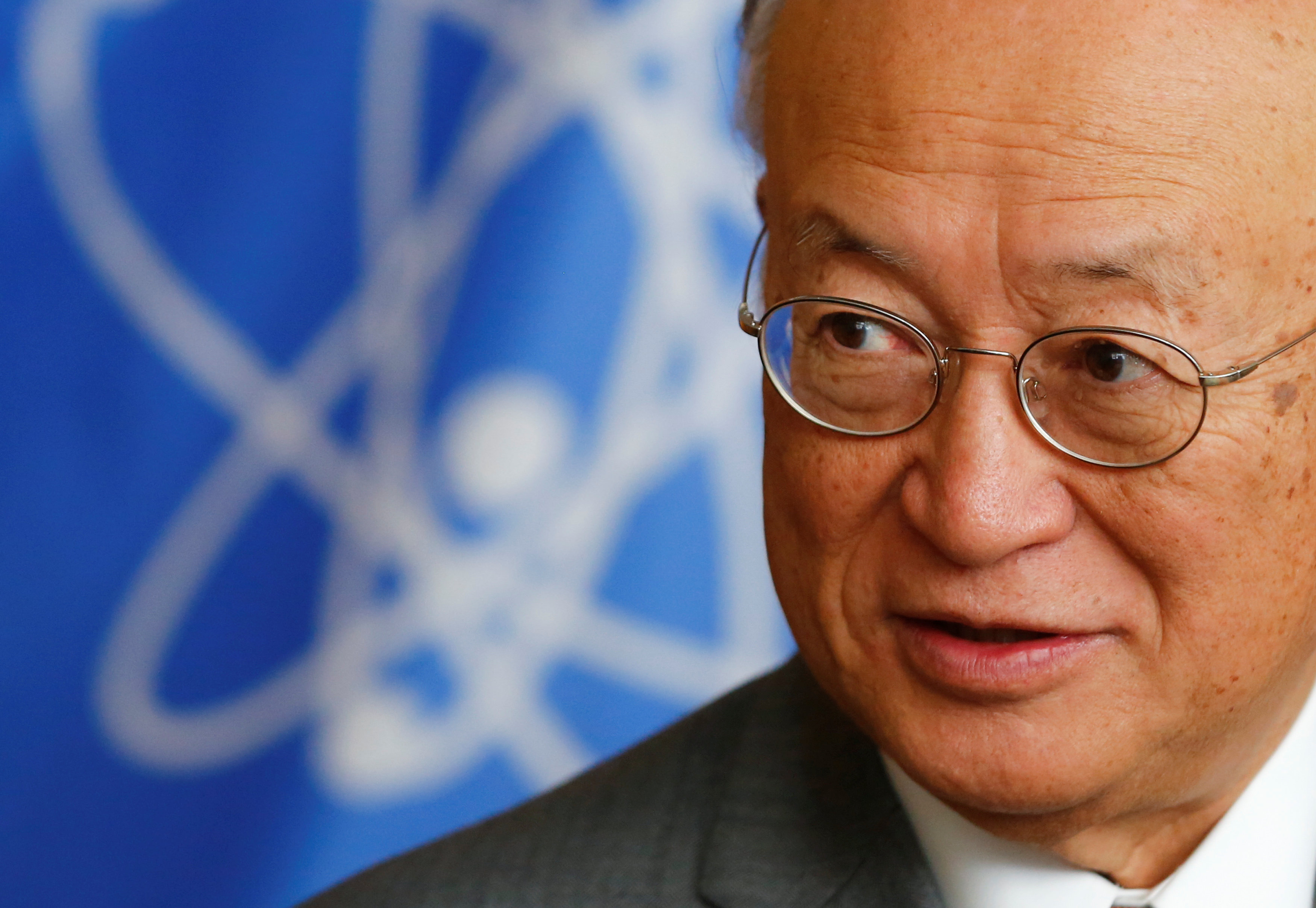 International Atomic Energy Agency (IAEA) Director General Yukiya Amano reacts during an interview with Reuters at the IAEA headquarters in Vienna, Austria September 26, 2017. REUTERS/Leonhard Foeger