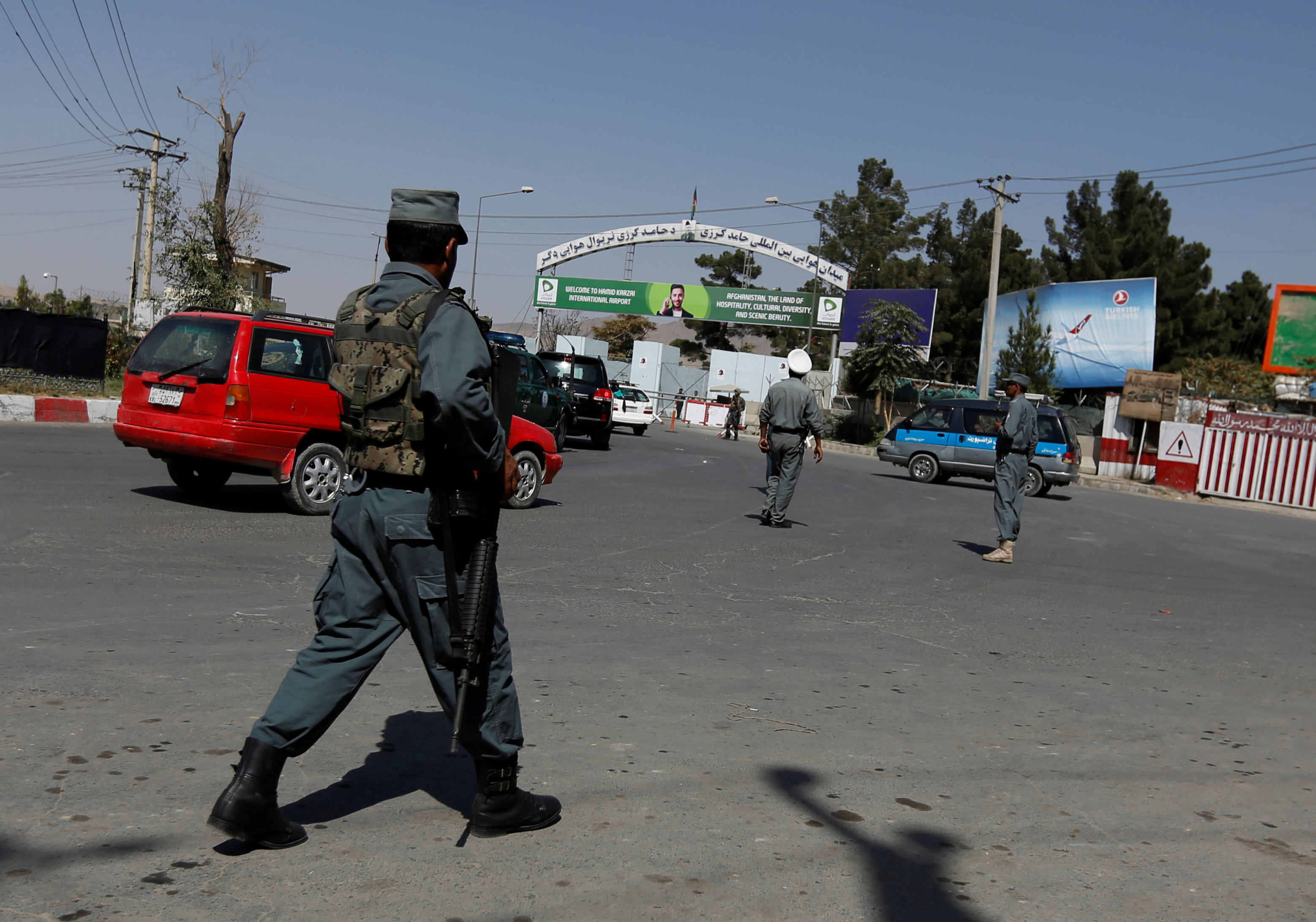 Mattis arrives in Afghanistan as rockets hit Kabul airport