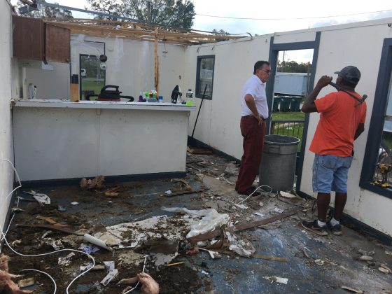 One home destroyed by Hurricane Irma in Immokalee, Florida,