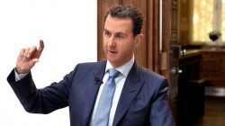FILE PHOTO: Syria's President Bashar al-Assad speaks during an interview with Croatian newspaper Vecernji List in Damascus, Syria, in this handout picture provided by SANA on April 6, 2017. SANA/Handout via REUTERS
