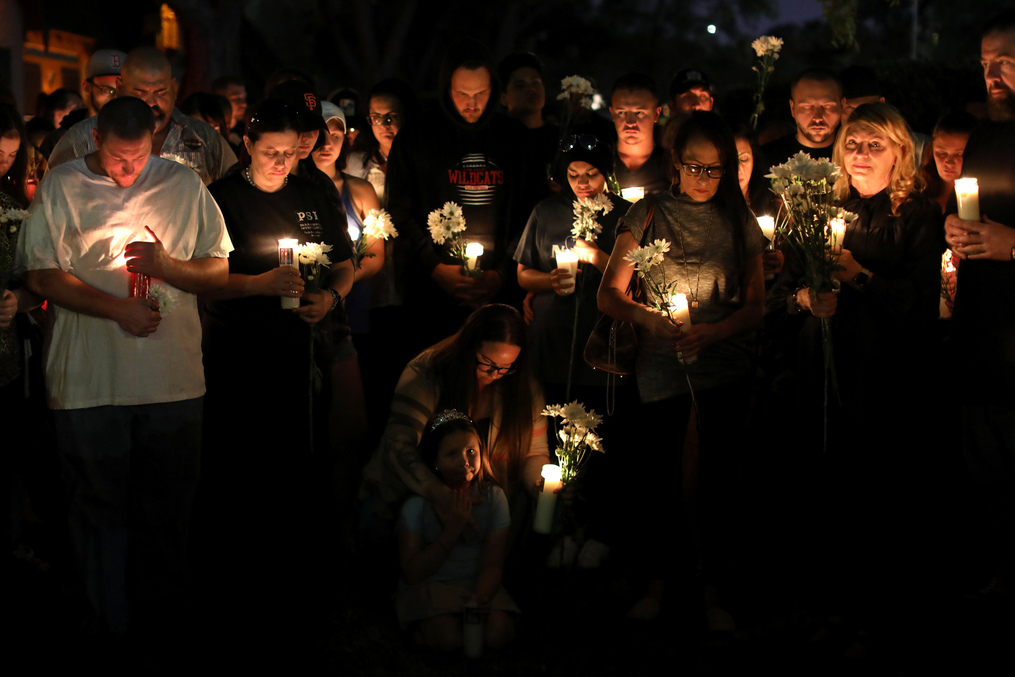 A candlelight vigil is held at Zack Bagans Haunted Museum in remembrance of victims following the mass shooting along the Las Vegas Strip in Las Vegas, Nevada, U.S., October 3, 2017. REUTERS/Mike Blake