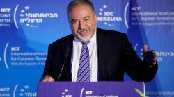 Israel's Defence Minister Avigdor Lieberman speaks during the International Institute for Counter Terrorism's 17th annual conference in Herzliya, Israel September 11, 2017. REUTERS/Amir Cohen