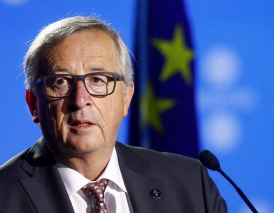 President of the European Commission Jean-Claude Juncker listens at a news conference during the European Union Tallinn Digital Summit in Tallinn, Estonia, September 29, 2017. REUTERS/Ints Kalnins