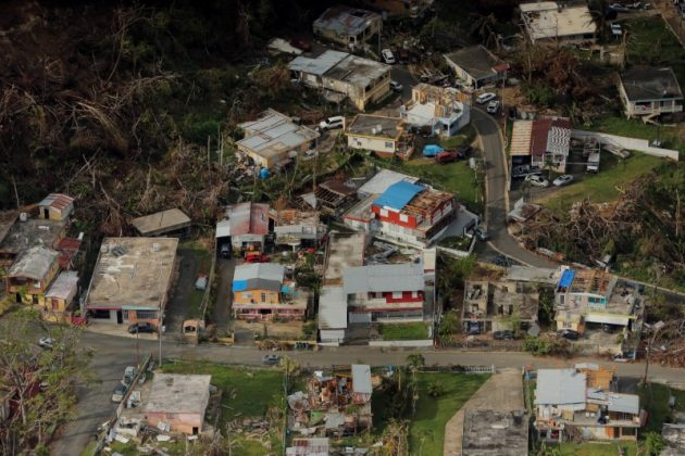 Buildings damaged by Hurricane Maria are seen in Lares, Puerto Rico, October 6, 2017. REUTERS/Lucas Jackson