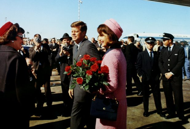 FILE PHOTO: U.S. President John F. Kennedy and first lady Jacqueline Bouvier Kennedy arrive at Love Field in Dallas, Texas less than an hour before his assassination in this November 22, 1963 photo by White House photographer Cecil Stoughton obtained from the John F. Kennedy Presidential Library in Boston. JFK Library/The White House/Cecil Stoughton/File Photo via REUTERS